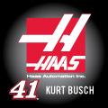 KURT BUSH 41 HAAS