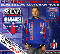 2012 Superbowl Champs Giants