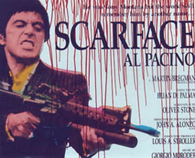 SCARFACE PAINTING BY STEVE KAUFMAN