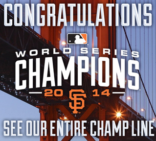 2014 WORLS SERIES SF GIANTS